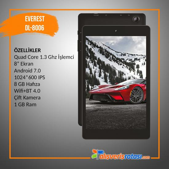 Everest Digiland DL8006 8 GB 7'' Tablet
